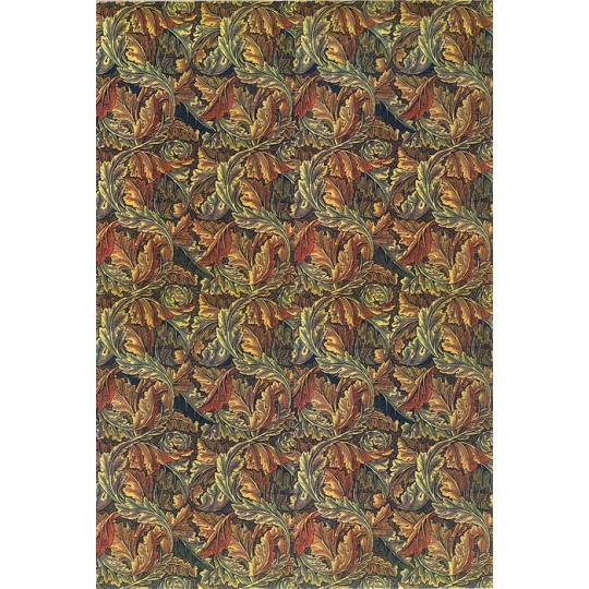 William Morris Art Nouveau Rice Paper Decoupage Sheet with Autumn Leaves ~ Italy