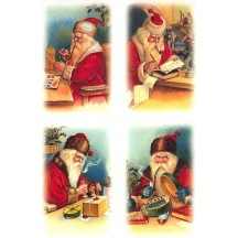 Santa's Workshop Rice Paper Decoupage Sheet ~ Italy