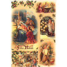 Nativity Scene and Christmas Angels Rice Paper Decoupage Sheet ~ Italy