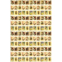 Petite Christmas Stamps Rice Paper Decoupage Sheet ~ Italy