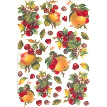 Cherries and Fruit Rice Paper Decoupage Sheet ~ Italy