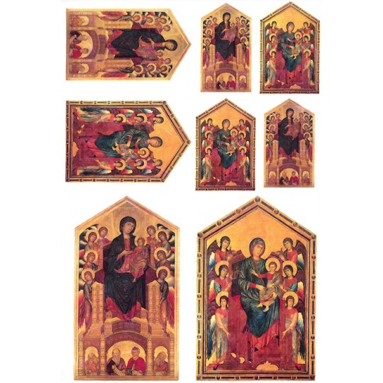 Religious Icons Rice Paper Decoupage Sheet ~ Italy