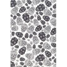 Sugar Skull Dia de los Muertos Rice Paper Decoupage Sheet ~ Italy