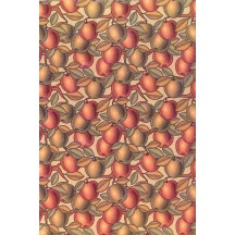 Stylized Apple Print Rice Paper Decoupage Sheet ~ Italy