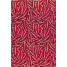 Stylized Chili Print Rice Paper Decoupage Sheet ~ Italy