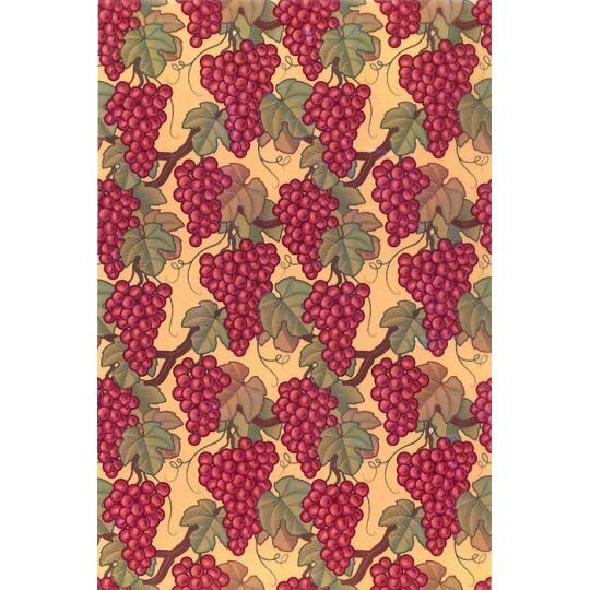 Stylized Grape Print Rice Paper Decoupage Sheet ~ Italy