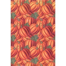 Stylized Pumpkin Print Rice Paper Decoupage Sheet ~ Italy