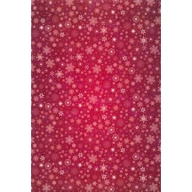 Burgundy Snowflakes Rice Paper Decoupage Sheet ~ Italy