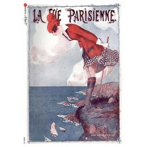 Parisian Seaside Rice Paper Decoupage Sheet ~ Italy