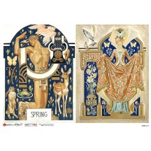 Art Deco Springtime Rice Paper Decoupage Sheet ~ Italy