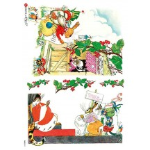 Whimsical Fairytale Bunnies Rice Paper Decoupage Sheet ~ Italy