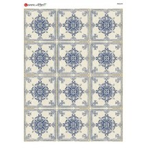Blue Delft Tiles Rice Paper Decoupage Sheet ~ Italy