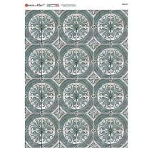 Circular Tile Pattern Rice Paper Decoupage Sheet ~ Italy