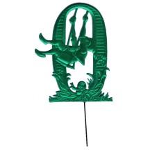 Green Dresden Foil Number Zero ~ Swinging Gnome