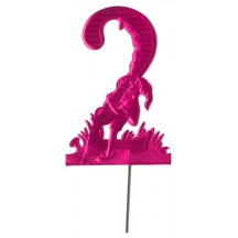 Fuchsia Dresden Foil Number Two ~ Climbing Gnome
