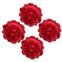 Red Dresden Foil Medallions ~ 24