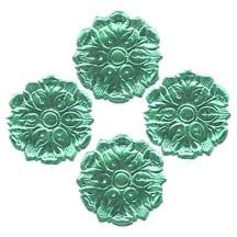 Aqua Dresden Foil Medallions ~ 24
