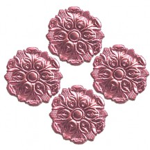 Pink Dresden Foil Medallions ~ 24