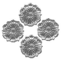 Silver Dresden Foil Medallions ~ 24