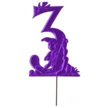Purple Dresden Foil Number Three ~ Gnome Musician