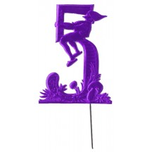 Purple Dresden Foil Number Five ~ Sitting Gnome
