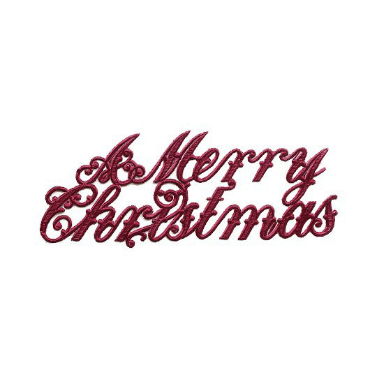 Large Burgundy Foil Merry Christmas Scripts ~ 6