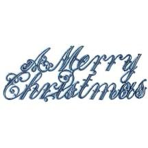 Large Steel Blue Foil Merry Christmas Scripts ~ 6