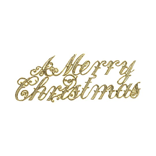 Large Gold Foil Merry Christmas Scripts ~ 6