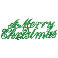 Large Green Foil Merry Christmas Scripts ~ 6