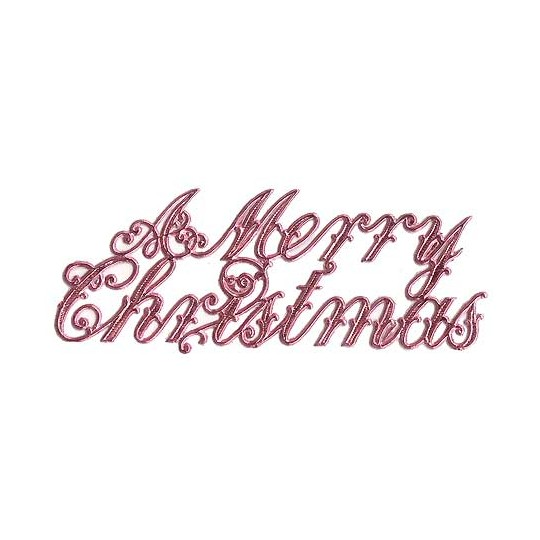 Large Pink Foil Merry Christmas Scripts ~ 6