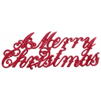 Large Red Foil Merry Christmas Scripts ~ 6