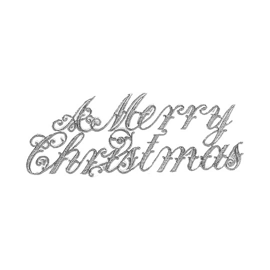 Large Silver Foil Merry Christmas Scripts ~ 6
