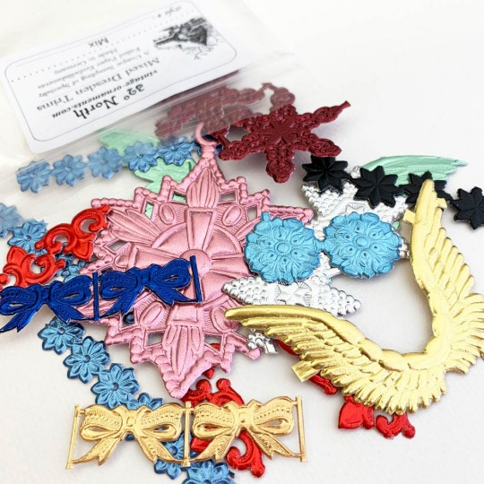 Mixed Pack of Dresden Foil Trims ~ Foiled Embellishments from Germany