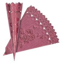 Pink Dresden Foil Floral Cornucopia Cones ~ 2