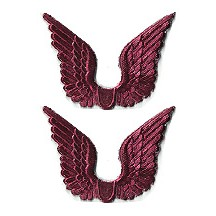 Burgundy Dresden Foil Wings ~ 24