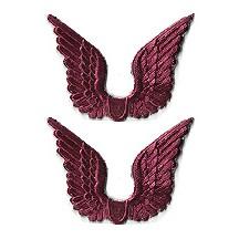 Burgundy Dresden Foil Wings ~ 24