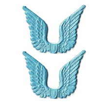 Light Blue Dresden Foil Wings ~ 24