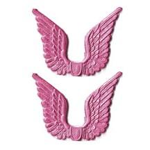Pink Dresden Foil Wings ~ 24