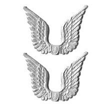 Silver Dresden Foil Wings ~ 24