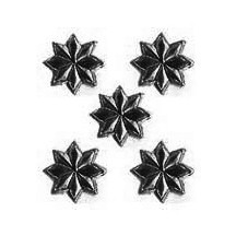 Medium Black Dresden Foil Stars ~ 72
