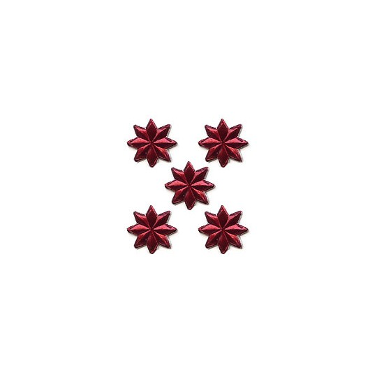 Medium Burgundy Dresden Foil Stars ~ 72