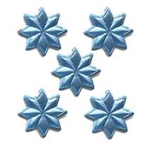 Medium LIght Blue Dresden Foil Stars ~ 72