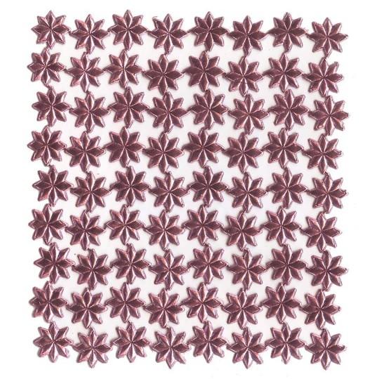 Medium Pink Dresden Foil Stars ~ 72