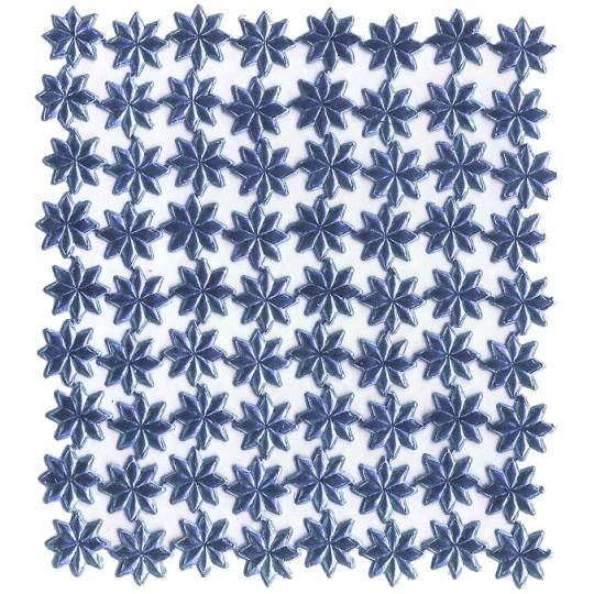 Medium Steel Blue Dresden Foil Stars ~ 72