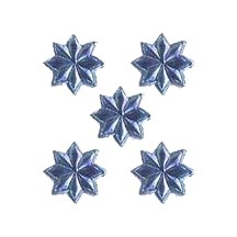 Medium Steel Blue Dresden Foil Stars ~ 72