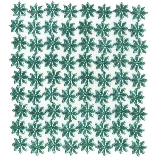 Medium Aqua Dresden Foil Stars ~ 72