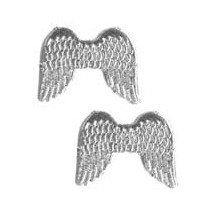 Small Silver Dresden Angel Wings ~ 10
