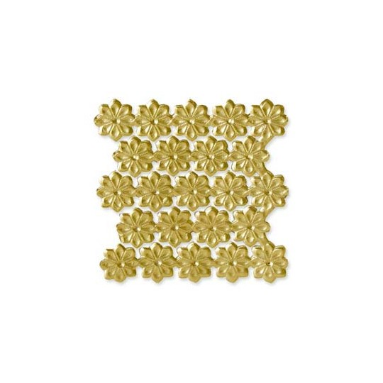 Gold Dresden Foil Flowers ~ 102