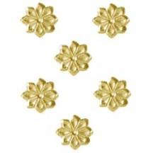 Gold Dresden Foil Flowers ~ 102
