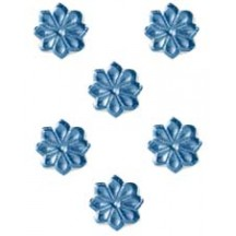 Steel Blue Dresden Foil Flowers ~ 102